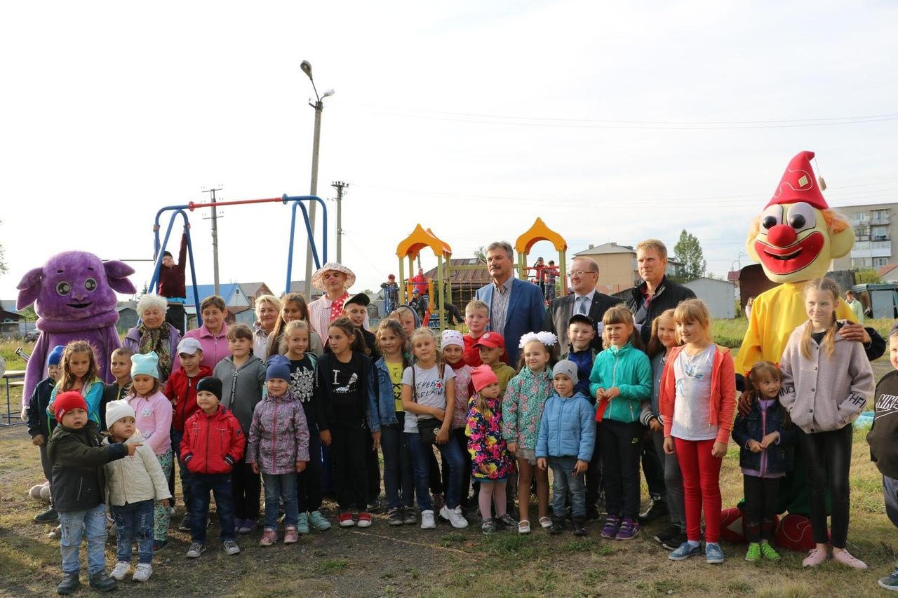 Торжественное открытие детского игрового комплекса